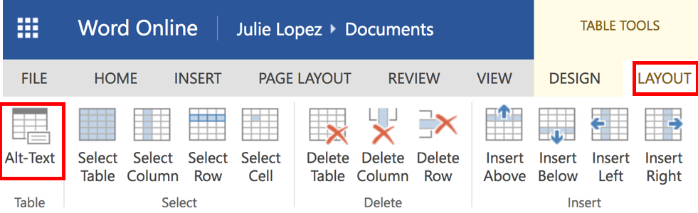 Alt text - Office 365