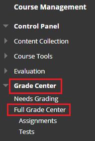 Full Grade Center