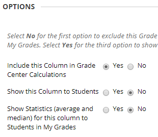 Select Columns Weighted Total column options