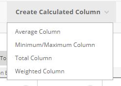 Create Calculated Column from the Full Grade Center in Blackboard
