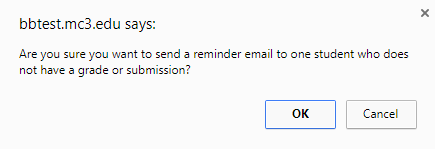 Send Reminder Pop-Up Window