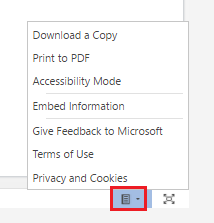 Access additional features on the embedded file to view as you wish.