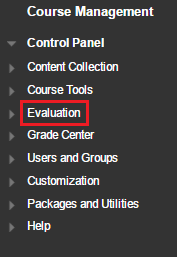 Blackboard Course Management and Evaluation