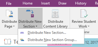Distribute Section in OneNote via Class Notebook tab