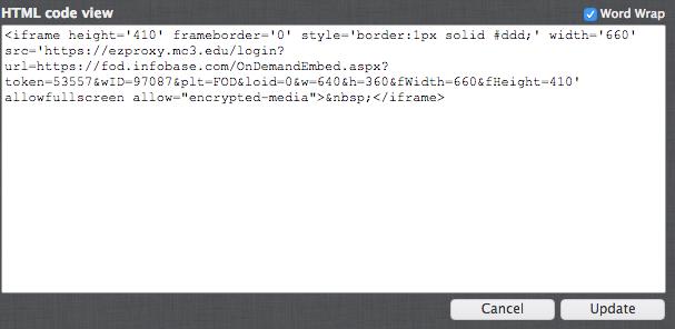 HTML text box screen shot