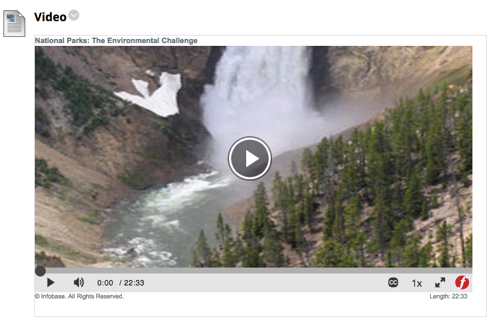 Screen shot of embedded video