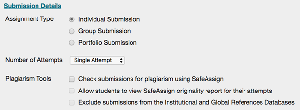 safeassign plagiarism checker for students