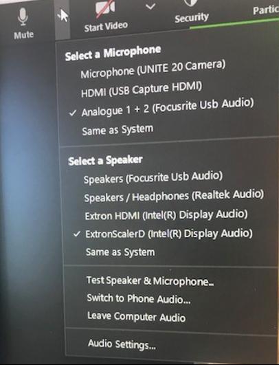 microphone settings