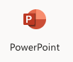 Microsoft PowerPoint online logo