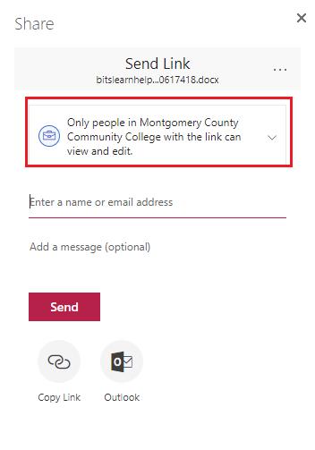 Get link options