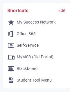 Shortcut menu