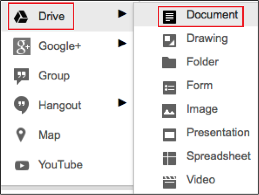 Adding documents from Drive