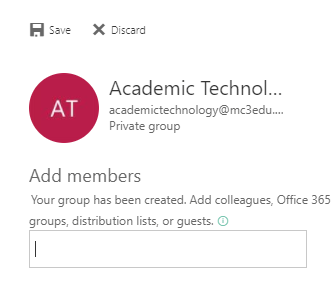 Add Member Email Page in Email