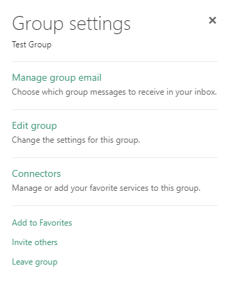 Group Settings Window