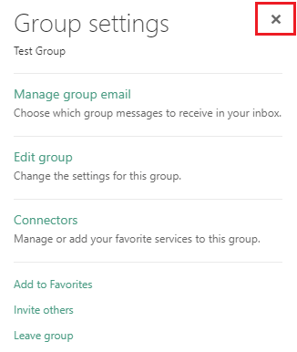 X in Group Settings