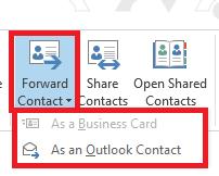 Forward Contact icon