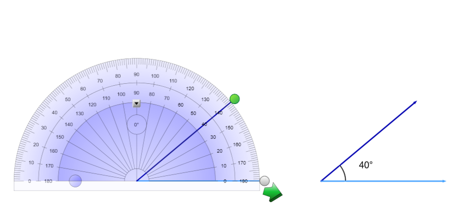 Measurement tools in SMART Notebook 17.1 to create lines and angles