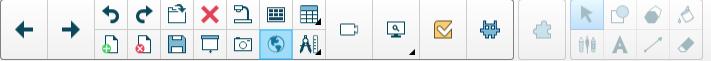 Smart Notebook toolbar