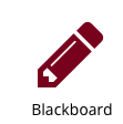 This is a picture of the Blackboard button that can be accessed from the Quick Links tab on the college portal page.