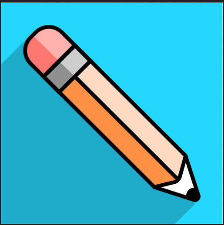 Blackboard Student App logo, which is a pencil against a blue background.