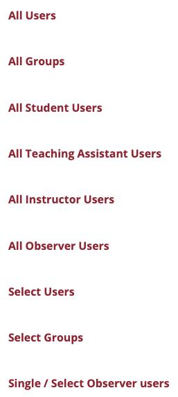 email options in Blackboard