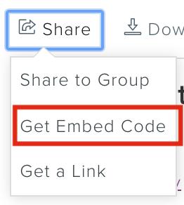 Get Embed code option