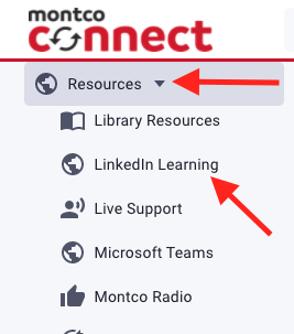 Resources link and LinkedIn Learning link
