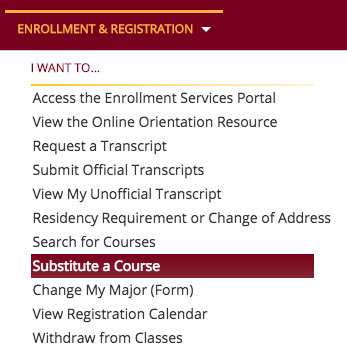 How to Request a Course Substitution