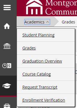 Grades Link on Student Portal