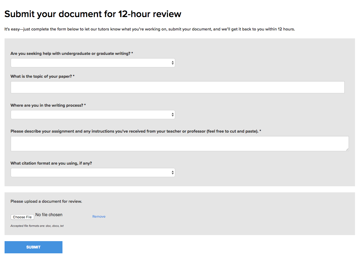 This is an image of the questions that need to be answered to submit a paper for review and the submit button at the bottom of the page.