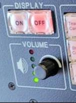 Extron control panel volume knob