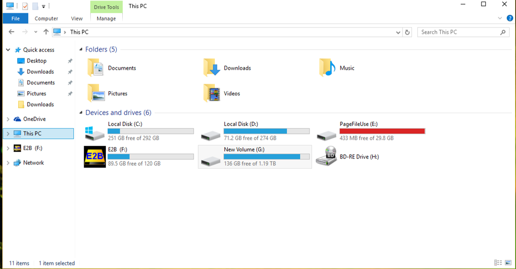 File Explorer Windows 10