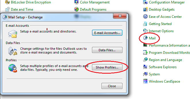 Error opening Microsoft Outlook on campus